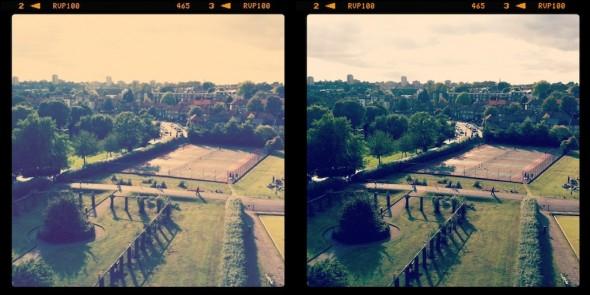 Comparación con el filtro Nashville