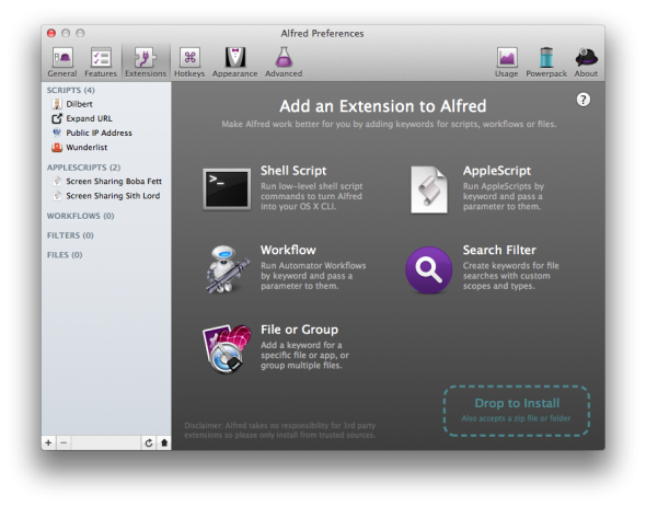 alfred mac preferences