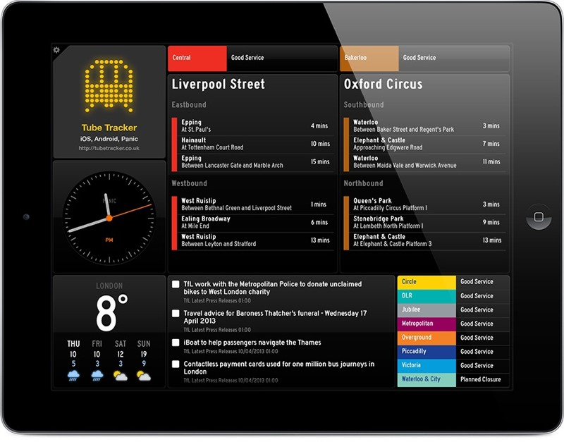 london tube apps tube tracker status board