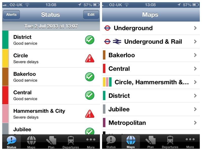 tube deluxe status maps
