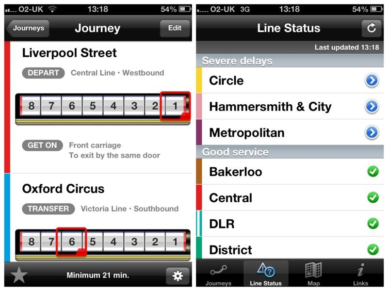 london tube exits screenshot